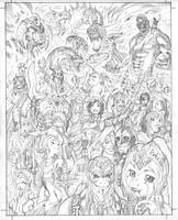 New EXALTED cover pencils by AdamWarren