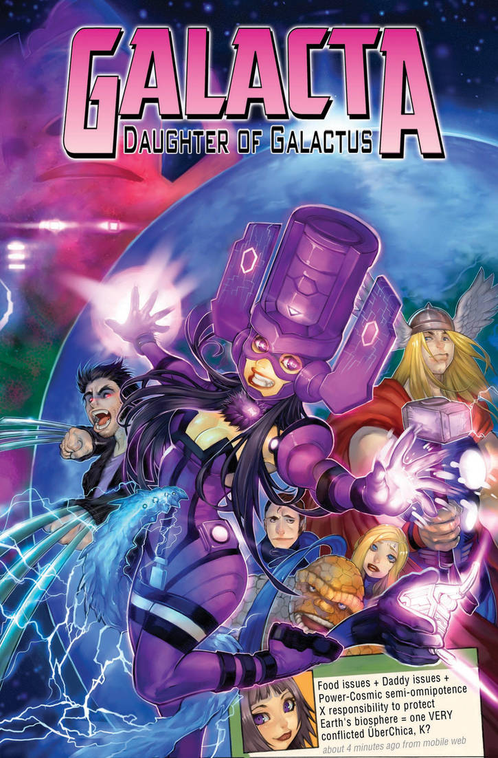GALACTA: Daughter of Galactus by AdamWarren