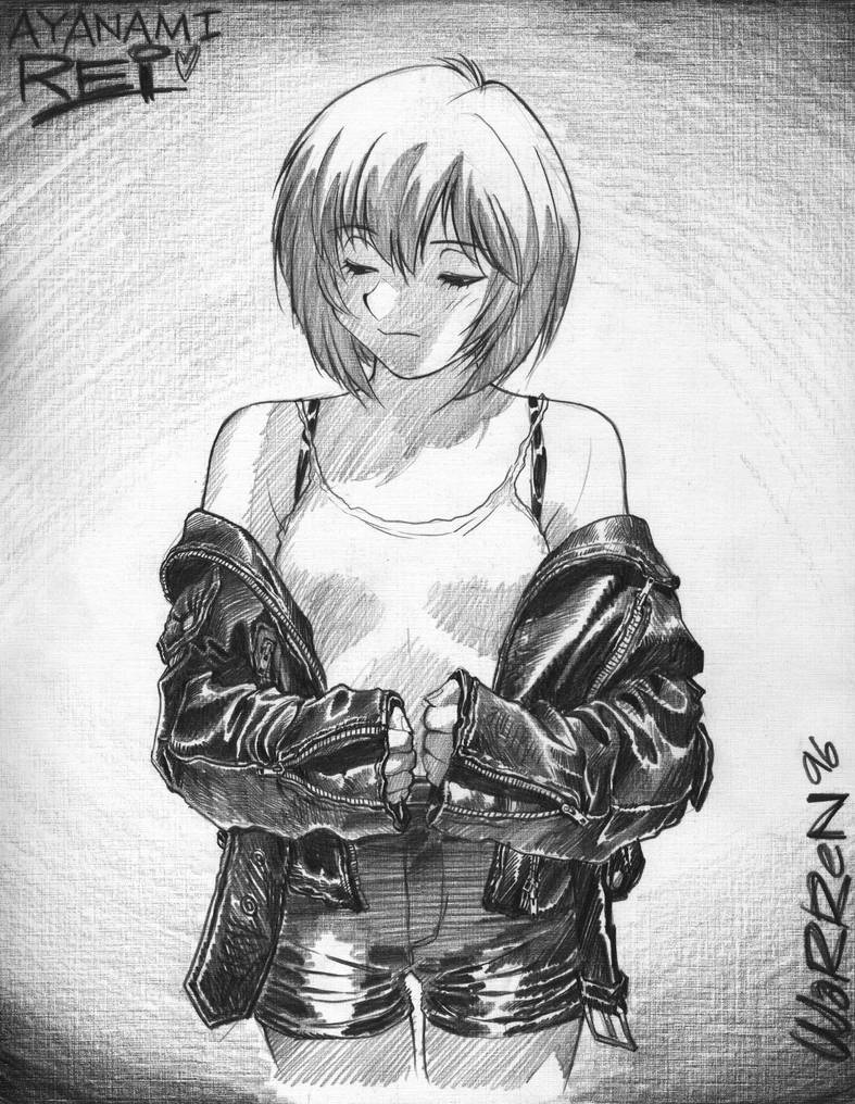 '96 'Leather-jacket Rei Ayanami' sketch by AdamWarren