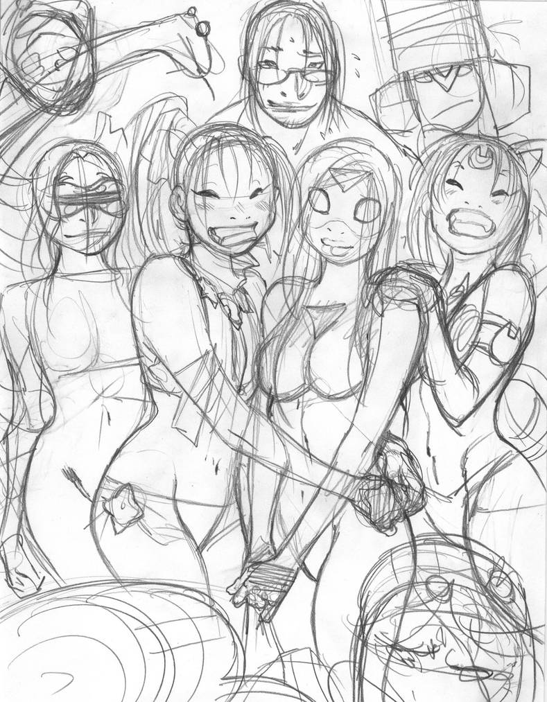 Rough for EMPOWERED DELUXE alt-contest prize by AdamWarren