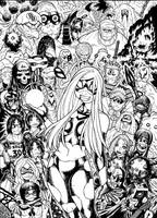 EMPOWERED DELUXE EDITION vol.2 cover inks by AdamWarren