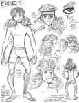 Rough character designs for SSX's Eddie (5 of 5) by AdamWarren