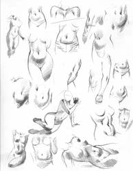 Navel-centric 'belly studies' for EMPOWERED by AdamWarren