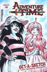 ADVENTURE TIME sketch cover with Marceline + PB by AdamWarren