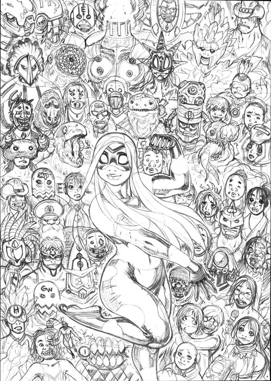Cover pencils for EMPOWERED DELUXE vol.3 by AdamWarren