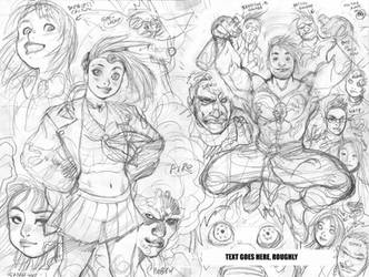 GEN13 rough for WILDSTORM 25th ANNIVERSARY book by AdamWarren
