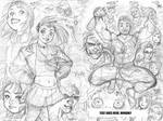 GEN13 rough for WILDSTORM 25th ANNIVERSARY book by AdamWarren