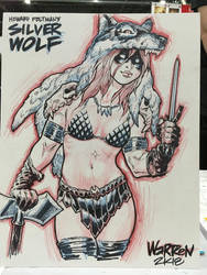 OC con sketch from Motor City Comic-Con by AdamWarren