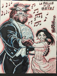 BEAUTY AND THE BEAST con sketch from SDCC by AdamWarren