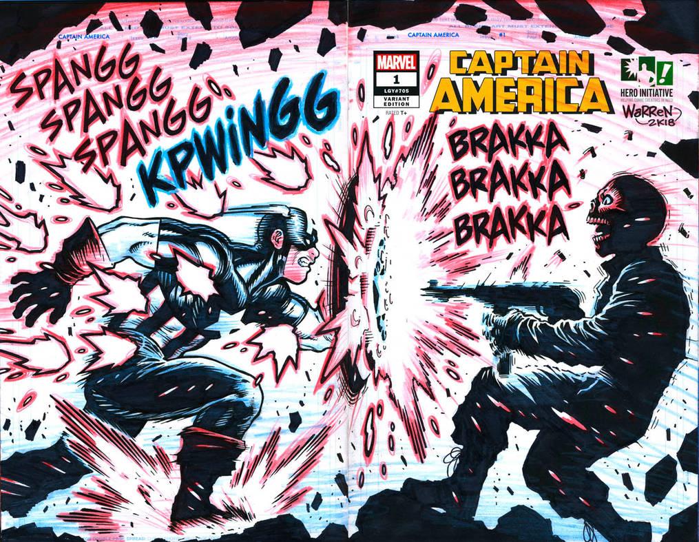 CAPTAIN AMERICA sketch cover for Hero Initiative by AdamWarren