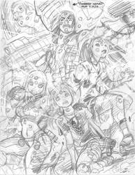 LIVEWIRES no. 4 cover rough by AdamWarren
