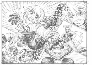 SSX3's GRIFF, pencils by AdamWarren