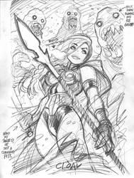 Marvel's VALKYRIE, rough by AdamWarren