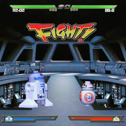 R2-D2 vs BB-8  by SMC92