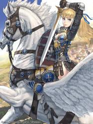 woman knight by U-RA-CIL