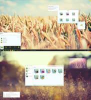 KDE4 Gaia Desktop by half-left