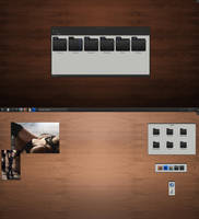 KDE4 - SLAVE Style Desktop by half-left