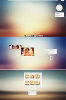 KDE4 Elune Desktop by half-left