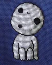 Kodama cross stitch by Awenmir