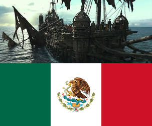 Silent Mary sails under the Mexican flag by AntonioAlexisHuerta