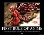 First Rule of Anime by bloodyanimefreak