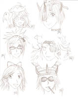 Some Gaia  Online sketches by Chuushiri