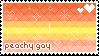 peach gay stamp ~ {aes pride flags} by erasercatt