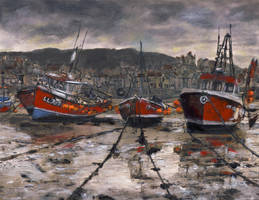 Low Tide at Staithes by RandySprout