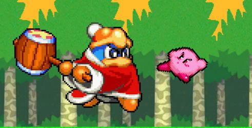 Kirby vs. King Dedede by AsylusGoji91