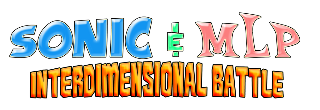 Sonic and MLP - Interdimensional Battle Logo by AsylusGoji91