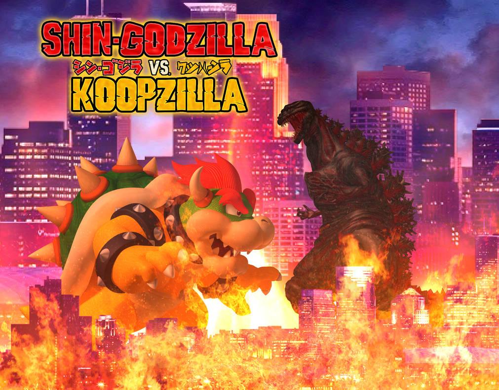 Beefymusclemuscle Com: Project 2014 Godzilla Vs Koopzilla Poster By: Godzilla Vs