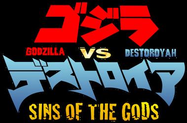 Godzilla vs. Destoroyah Sins of the Gods - Logo 02 by AsylusGoji91
