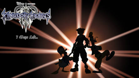 Kingdom Hearts III Countdown - 7 Days Left by AsylusGoji91