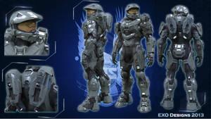 Halo 4 Master Chief armor (HD) by Dutch02