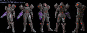 Halo/ Metroid Varia Dark suit by Dutch02