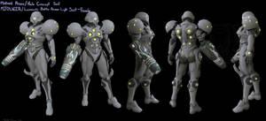 Halo/ Metroid Varia Light suit by Dutch02
