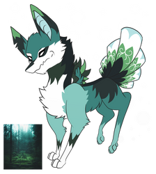 Peacock Doggo - Palette Adopt (CLOSED) by GoblinFuzz