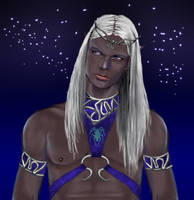blue eyed drow by littlegoblet