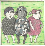 Bruce and the Emo Sheep by angelacapel