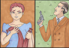 Sherlock Holmes Cult Stuff Sketch Cards 2 by angelacapel