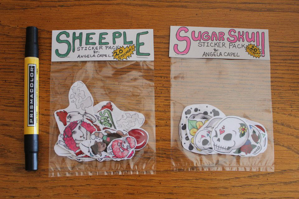 Sticker Bags by angelacapel