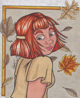 Dorene in Fall by angelacapel