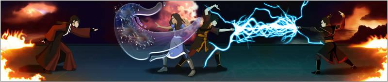 Zutara Electrifying Battle by Kuro-Akumako