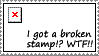 Broken Stamp by dazedgumball