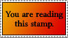 Read this Stamp by dazedgumball