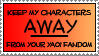 Anti-Yaoi Fandom Stamp by dazedgumball