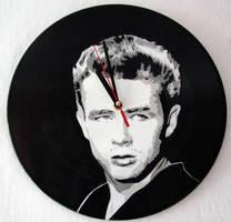 James Dean on vinyl record clock by vantidus