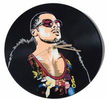 Fight Club Tyler Durden vinyl record clock by vantidus