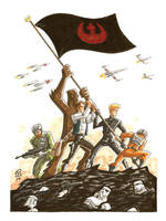 Star Wars Iwo Jima by OtisFrampton