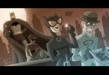Bat Cat Robin Riddler by OtisFrampton